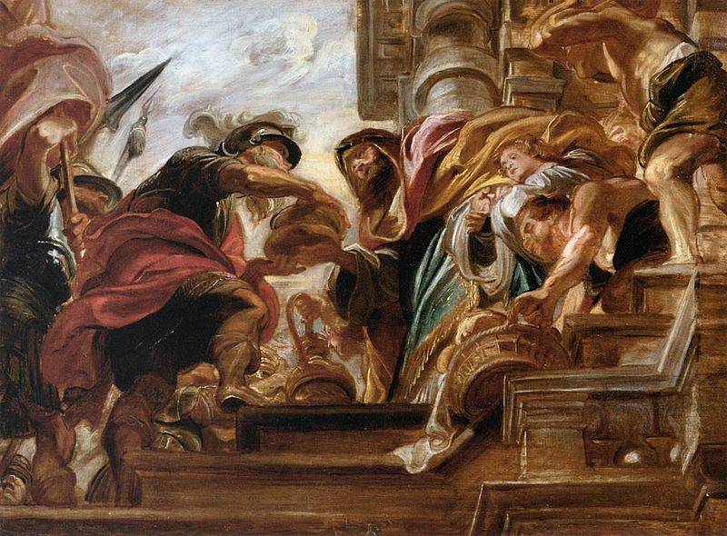 Datei:Peter Paul Rubens - The Meeting of Abraham and Melchisedek - WGA20438.jpg